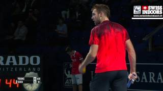 Donald Young – Jack Sock 1st Set Ball [7:5] (2015.10.30.)