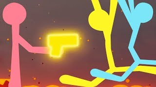 GOLDEN GUN! NEW MAPS! - Stick Fight Gameplay Part 2 | Pungence