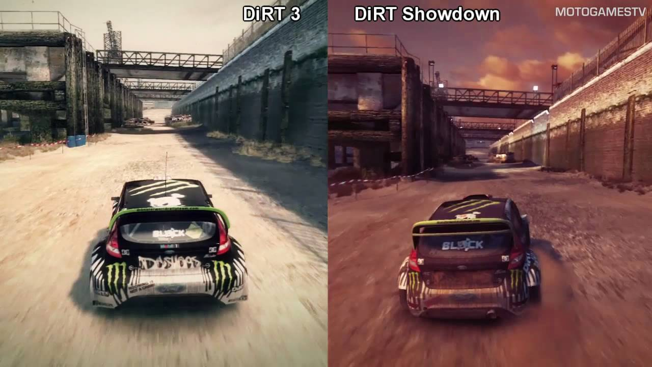 dirt 3 vs dirt showdown battersea comparison youtube. Black Bedroom Furniture Sets. Home Design Ideas