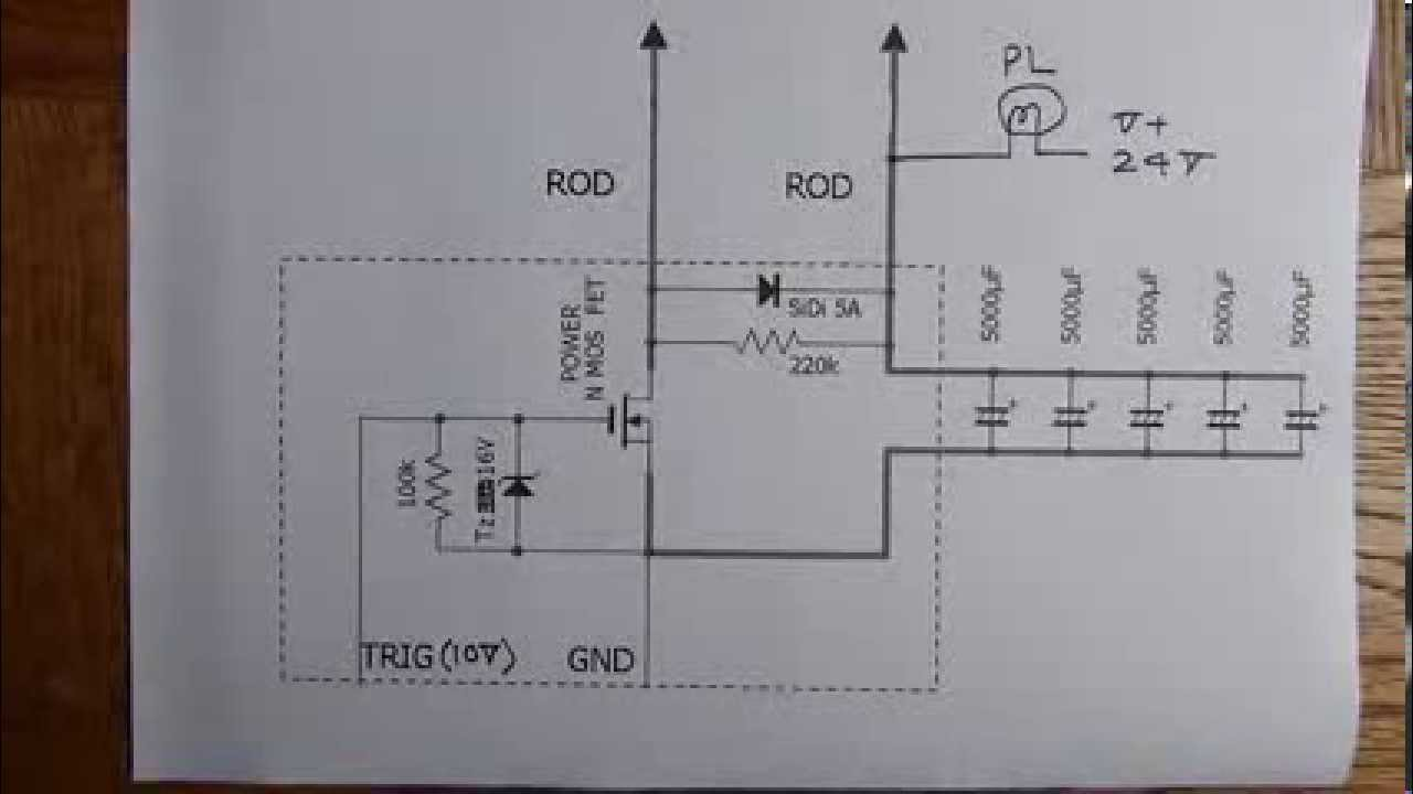 spot welder wiring diagram 4 flat stpm mini circuit youtube