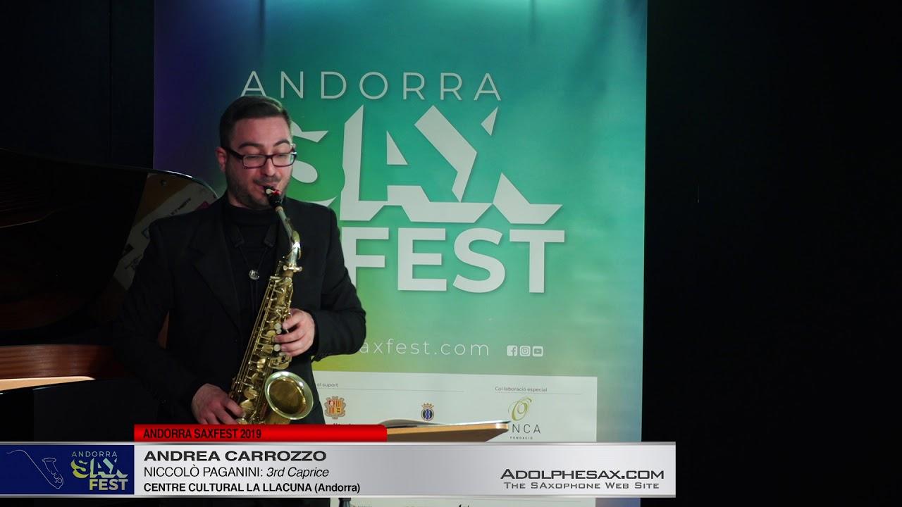 Andorra SaxFest 2019 1st Round   Andrea Carrozzo   3rd Caprice by Niccolo Paganini