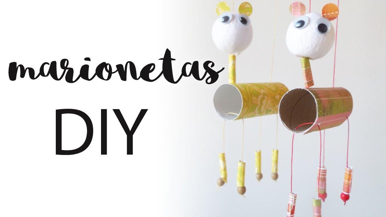 Marionetas DIY | Manualidades con niños | Juguetes con material ...