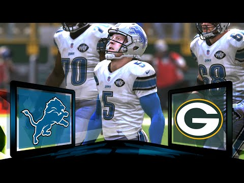 Madden NFL 17 Detroit Lions Franchise- Year 1 Game 3 at Green Bay Packers