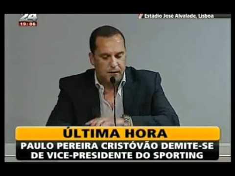 Paulo Pereira Cristóvão demite-se do Sporting