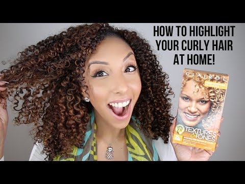 How To Highlight Curly Hair At Home! Clairol Professional Textures & Tones! | BiancaReneeToday