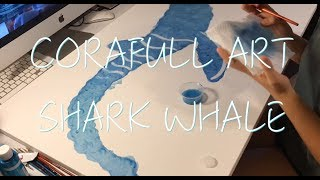 Video CORAFULL ART   Whale Shark download MP3, 3GP, MP4, WEBM, AVI, FLV Juni 2018