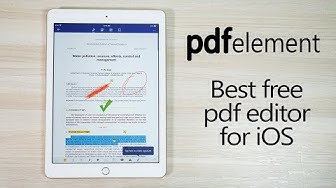 Best Free PDF Editing App for iOS (for iPhones & iPads) - PDFelement
