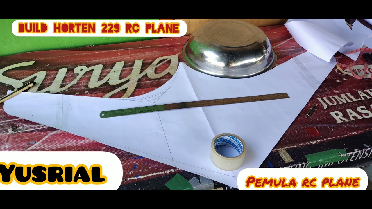 Home build horten 229 plying wing rc plane