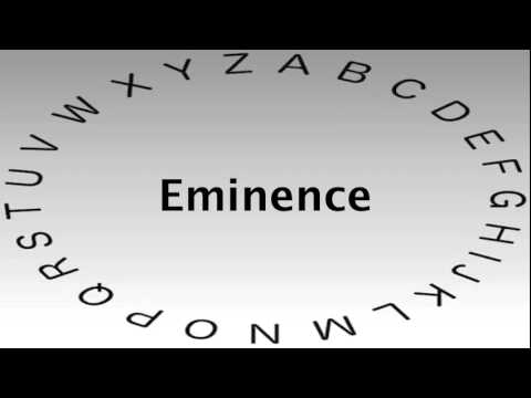 Perfect SAT Vocabulary Words And Definitions U2014 Eminence