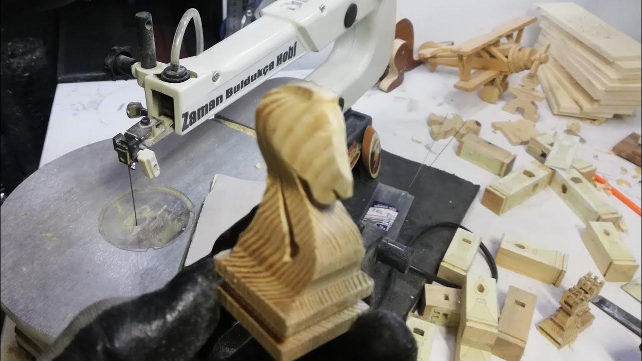 how to do wooden chess/ kıl testere çalışması/ 3D at yapımı / SCROLL SAW