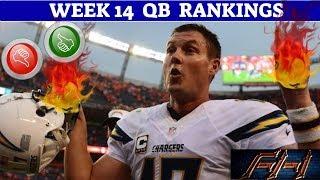 2018 Fantasy Football Lineup Advice  - Week 14 QB's Rankings - Starts / Sits