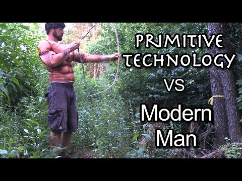 Primitive Technology vs. Modern Man (parody)