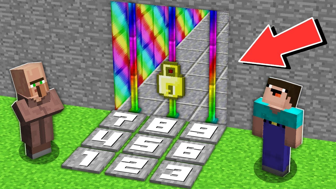Minecraft NOOB vs PRO: HOW NOOB OPENED SUPER SECRET LOCKED RAINBOW TUNNEL Challenge 100% trolling