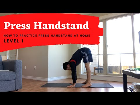 Press Handstand Conditioning Lesson At Home !! Level 1