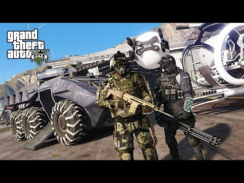 GTA 5 PLAY AS A COP MOD - FUTURISTIC ARMY POLICE FORCE!! SWA
