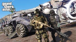 GTA 5 PLAY AS A COP MOD - FUTURISTIC ARMY POLICE FORCE!! SWAT Police Patrol! (GTA 5 Mods Gameplay)