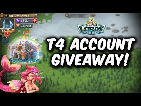 Awesome T4 Account Giveaway Ft.FierceKnight *CLOSED* - Lords Mobile
