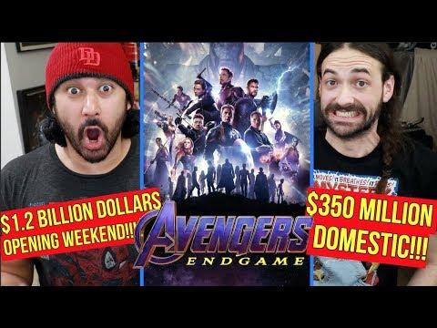 Avengers: Endgame - BIGGEST BOX OFFICE OPENING WEEKEND (1.2 BILLION Global, 350 Million Domestic)!!!