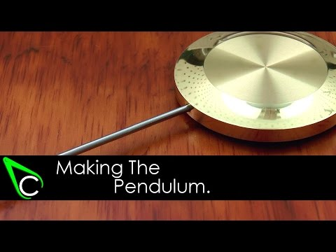 How To Make A Clock In The Home Machine Shop - Part 18 - Making The Pendulum