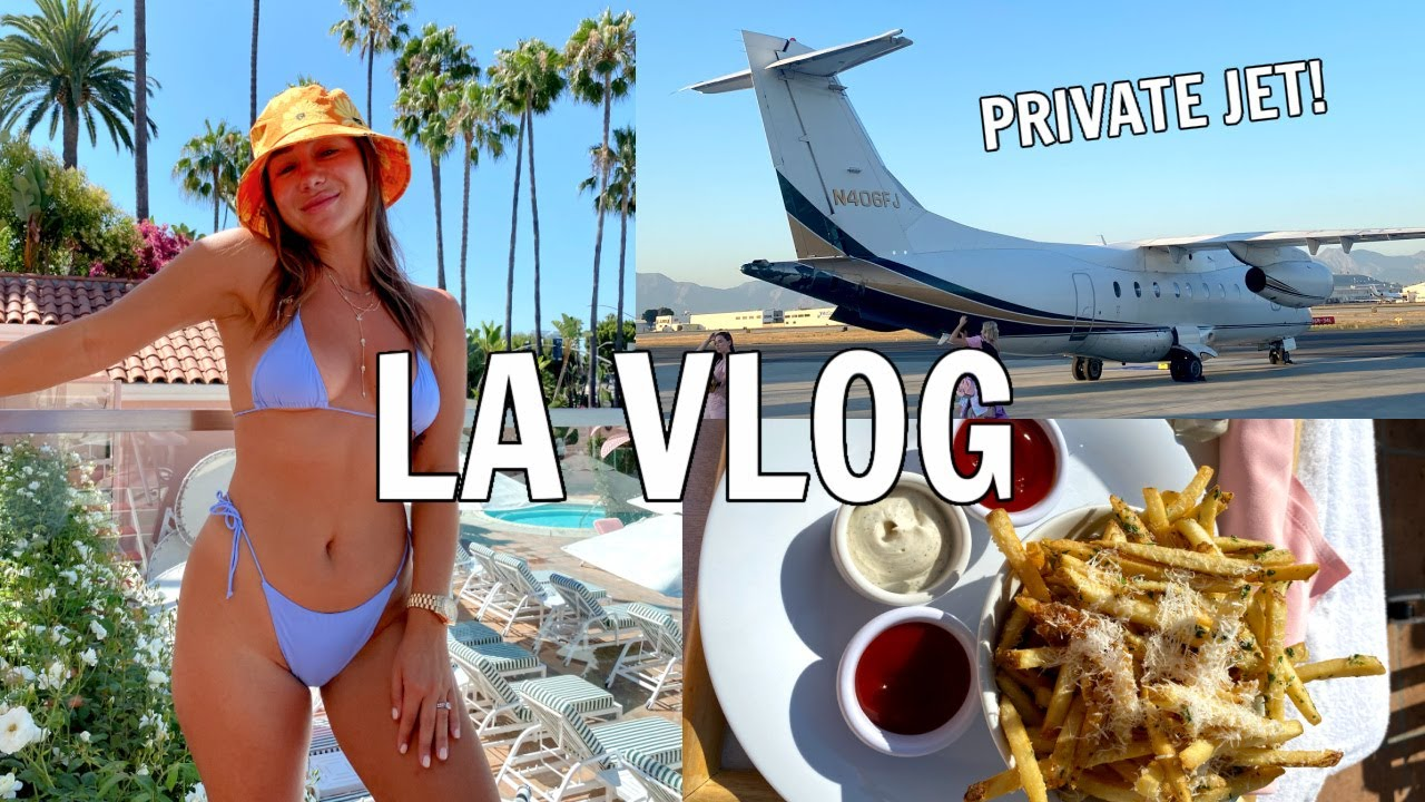 LA VLOG 2: Taking a Private Jet?! Breaking our Curse, What to Eat & Where to Stay   Julia & Hunter