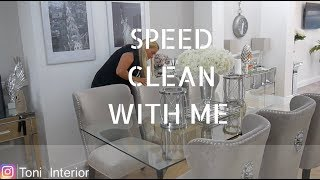 Morning Routine speed clean with me 2018 | LOUNGE DINING ROOM Toni Interior