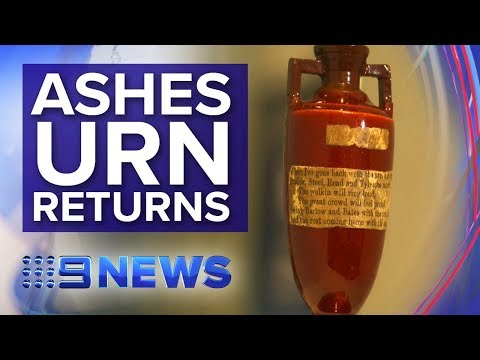 Ashes Urn makes its way to Australia | Nine News Australia