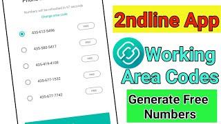 2ndline App Working Area Codes   How To Generate Free Number In 2ndline App   Error Problem Solve screenshot 3