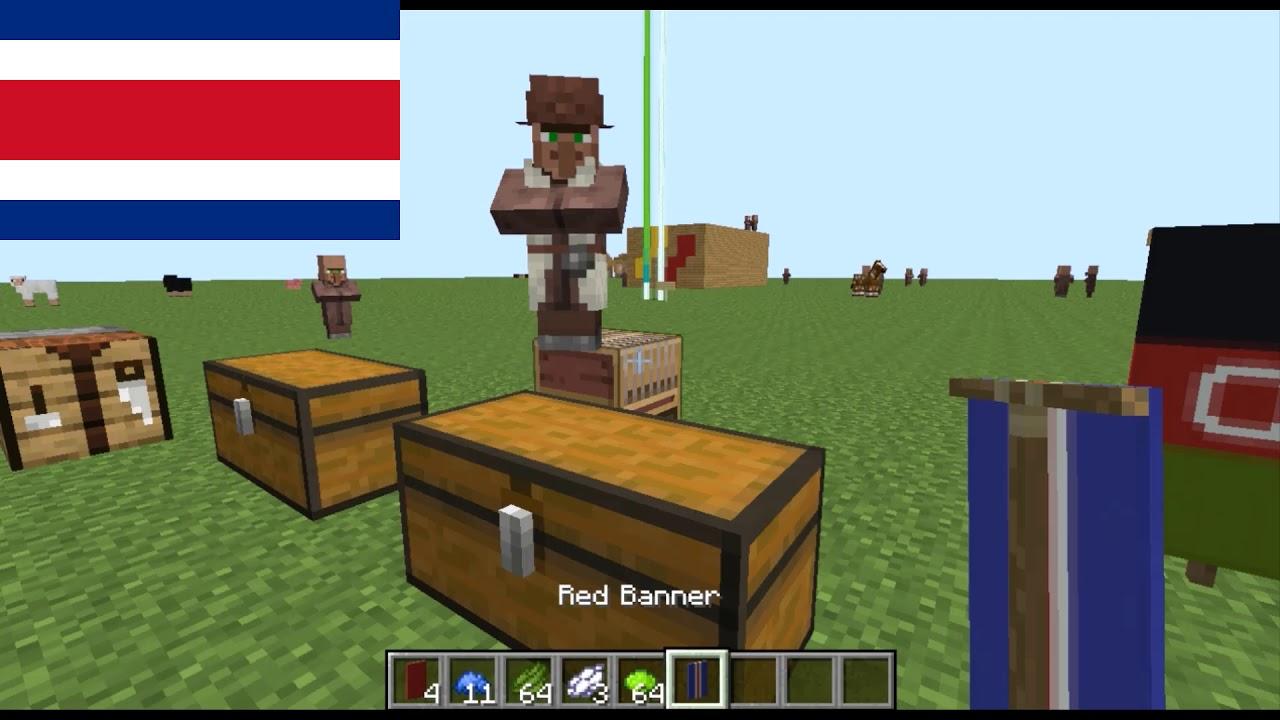Minecraft Flag Banner Tutorial Costa Rica Srpfc Youtube