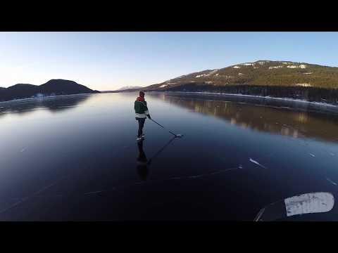 SKATING ON CRYSTAL CLEAR ICE!!