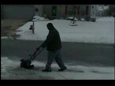 ronald and the snow blower