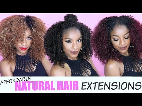 Natural Hair Extensions | 5 EASY & AFFORDABLE WAYS ft. Outre Big Beautiful Hair