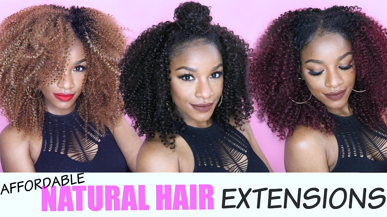Natural Hair Extensions 5 Easy Affordable Ways Ft Outre Big