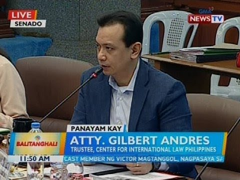 Panayam kay Atty. Gilbert Andres, trustee, Center For International Law Philippines