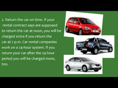 How To Return Rental Cars To Airports