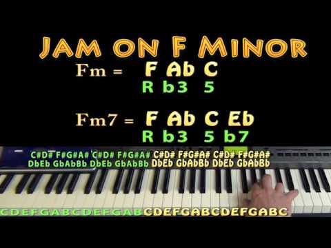 F Minor Chord Fm Fabc Mm60 Jamtrack Keyboard Loop Youtube