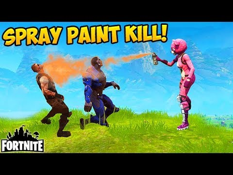 Killing Players With SPRAY PAINT?! - Fortnite Funny Fails and WTF Moments! #194 (Daily Moments)