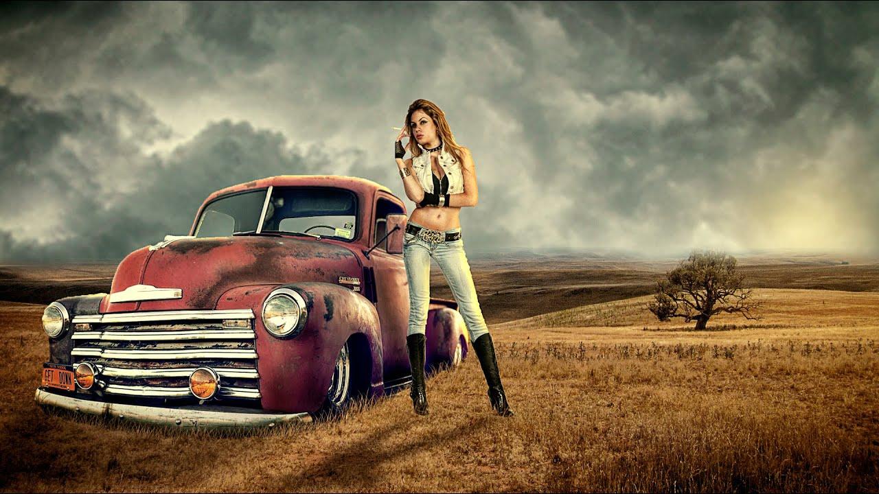 photoshop manipulation- girl with car - YouTube