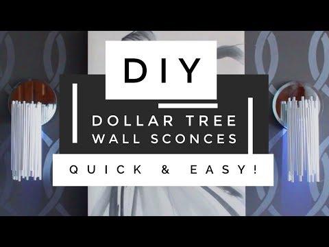 DIY Dollar Tree Modern Wall Sconces - So Easy & Budget Friendly | Home Decor Ideas