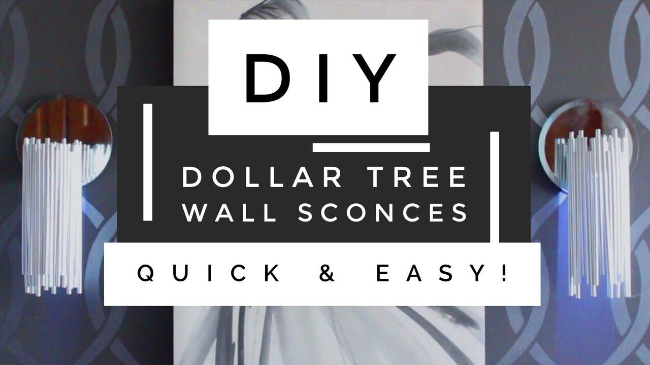Diy Dollar Tree Modern Wall Sconces So Easy Amp Budget