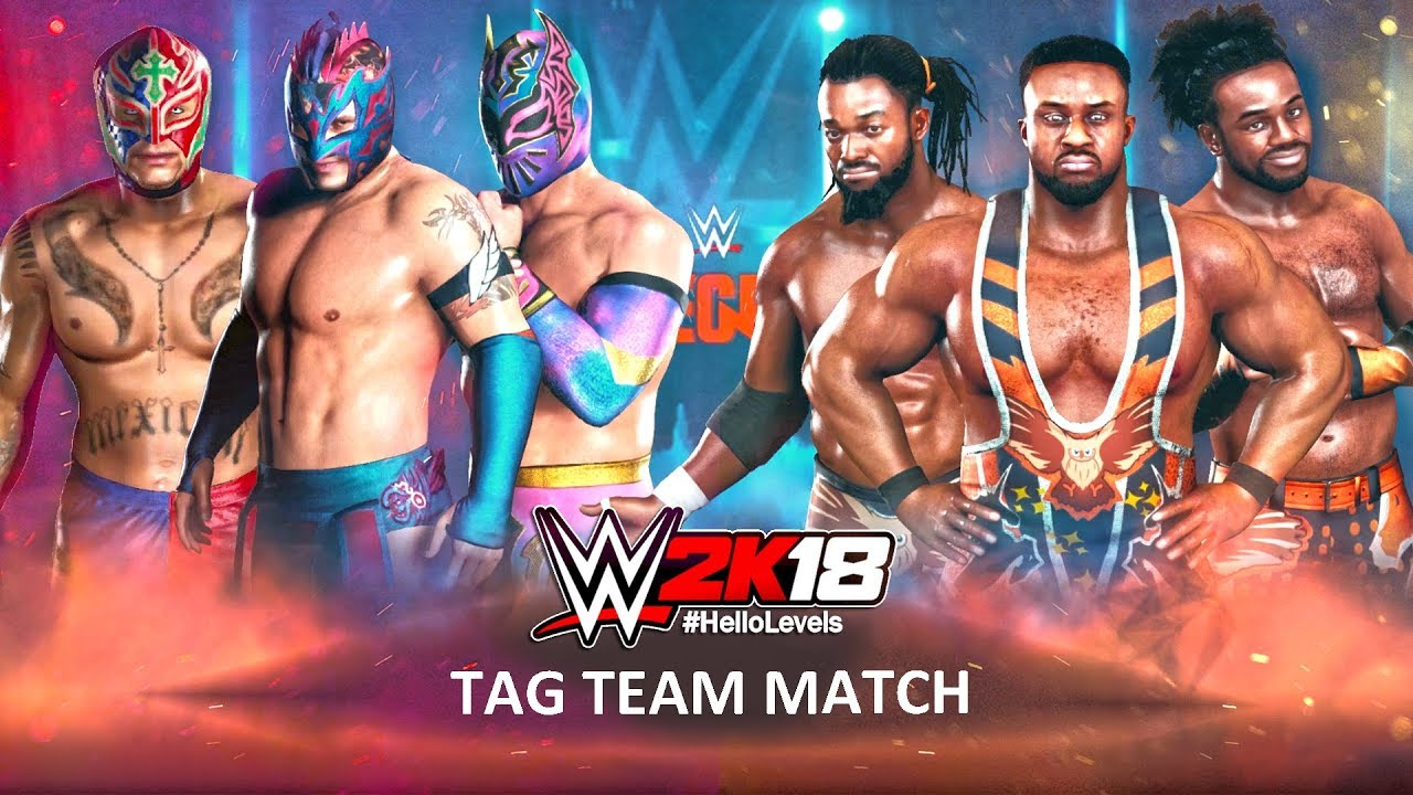 Lucha Libre Youtube Wwe 2k18 The Lucha Dragons Feat Rey Mysterio Vs The New Day 6 Man Elimination Tag Team Match