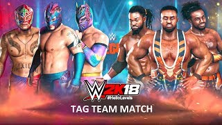 WWE 2K18 The Lucha Dragons (feat. Rey Mysterio) vs The New Day | 6 MAN ELIMINATION TAG TEAM Match