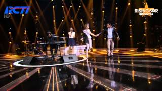 """Reyna Qotrunnada Feat Ahmad Dhani """"Route 66"""" Nat King Cole - Rising Star Indonesia Eps 6"""