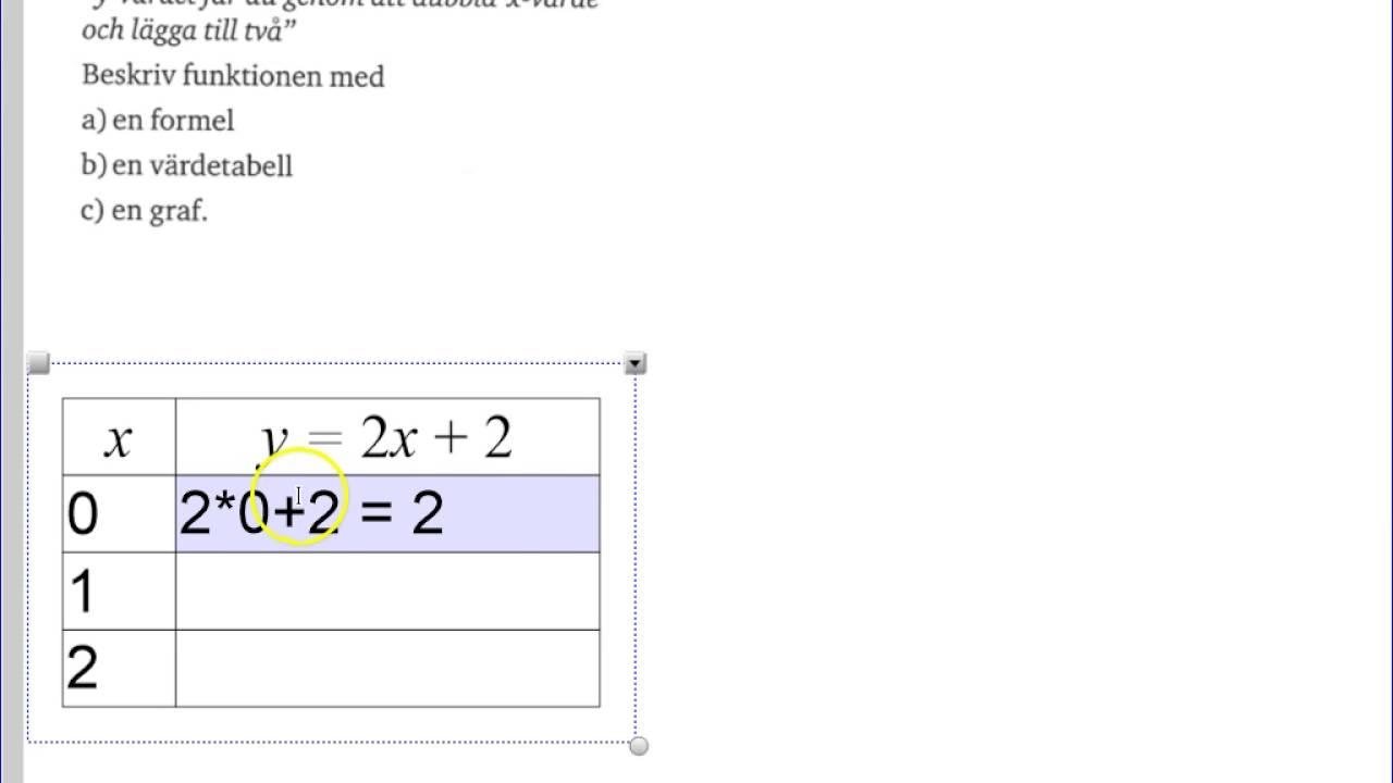 Matematik 5000 - Ma 2a - Kapitel 1 - Funktion, formel, värdetabell och graf - 1219