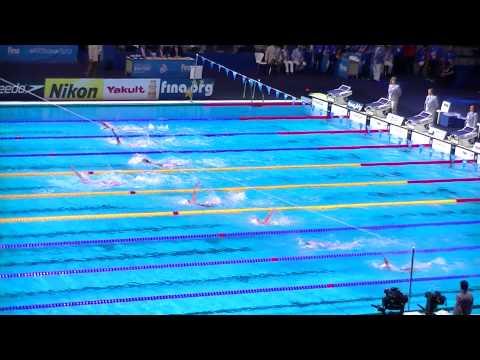 200m Backstroke Women, Final. Swimming World Championships BCN 2013. Missy FRANKLIN Gold Medal