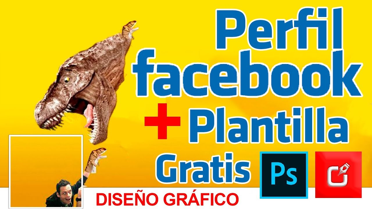 🔴 COMO Crear PERFIL de FACEBOOK en PHOTOSHOP + PLANTILLA ⭐ - YouTube