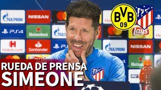 Borussia Dortmund Atlético Madrid | Rueda de prensa de Simeone | Diario AS
