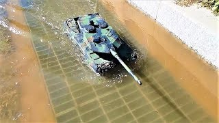 RC TANK 1/16 Heng Long 3889-1 Leopard 2A6 a Park After the Rain Ride 2
