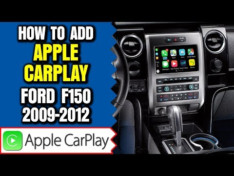 Ford F150 Apple CarPlay Android Auto 2009-2012 Ford F150 Sync Navigation HDMI Camera Mirroring Waze