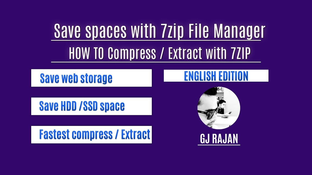 How to Compress - Decompress - Extract - Large / Massive files with 7zip  (English version)