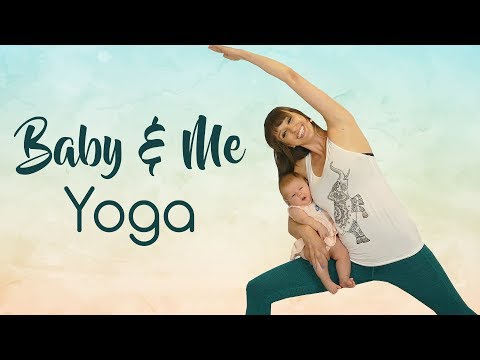 Baby & Me Yoga ♥ Intermediate Postpartum Yoga Class for Balance & Strength, Rebuild Pelvic Floor